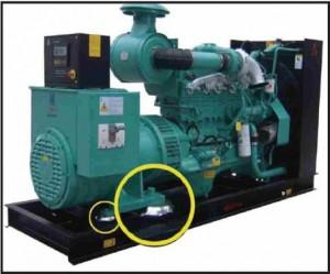 Generator anti-vibration mounts rubber mounts