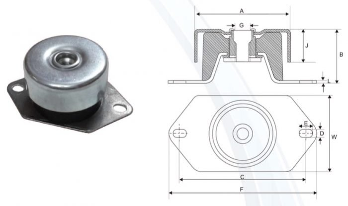 gen-set-elastic-mounts-designed-to-fit-the-mounting-system-of-gen-sets-in-india-63-mm-high